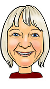 JULIE HAMPSON Caricature