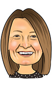 MARIA BROWN DIP CII Caricature
